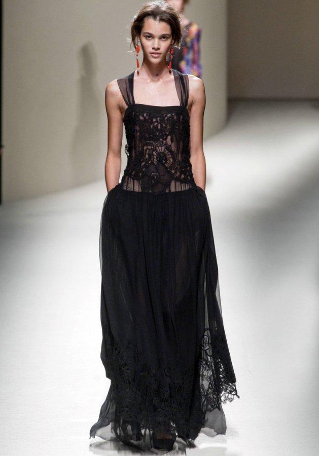Платье в пол от Alberta Ferretti