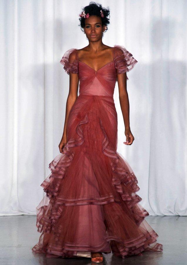 Модное вечернее платье Zac Posen 2014