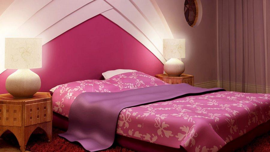 Спальня в розовых оттенках