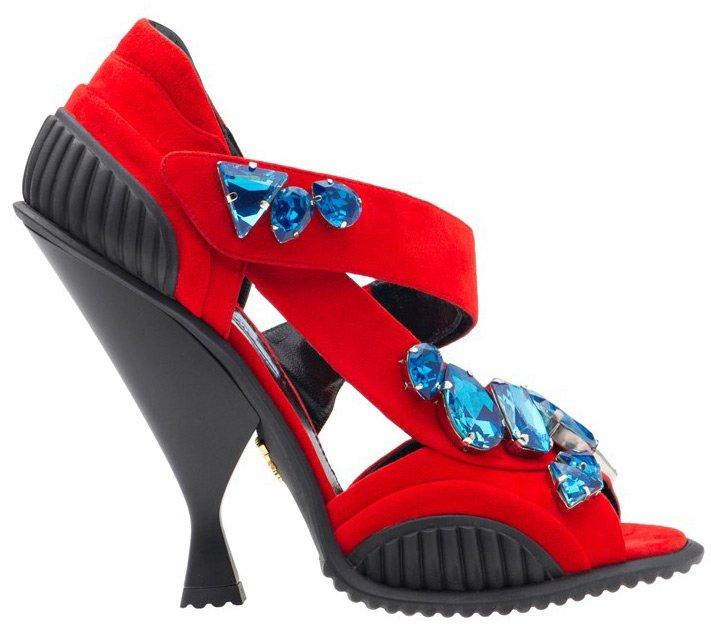 Модные босоножки Prada 2014