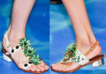 Модные сандалии лето 2014