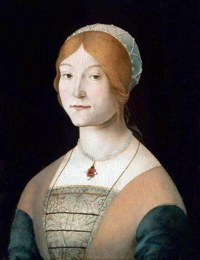Жемчужное ожерелье – средневековье, портрет