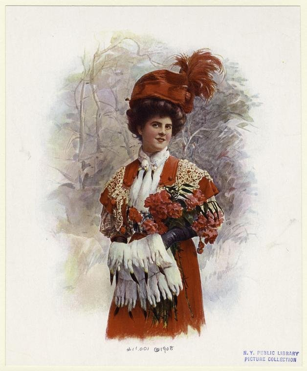 Дама с меховой муфтой