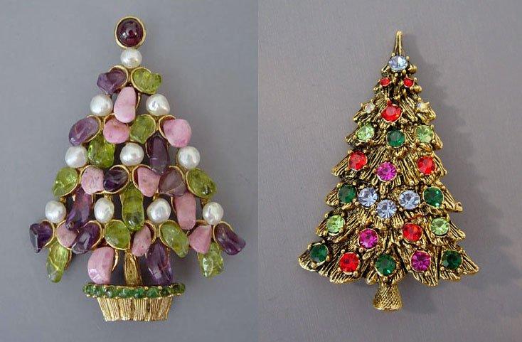 Брошь – новогодняя елка, украшение