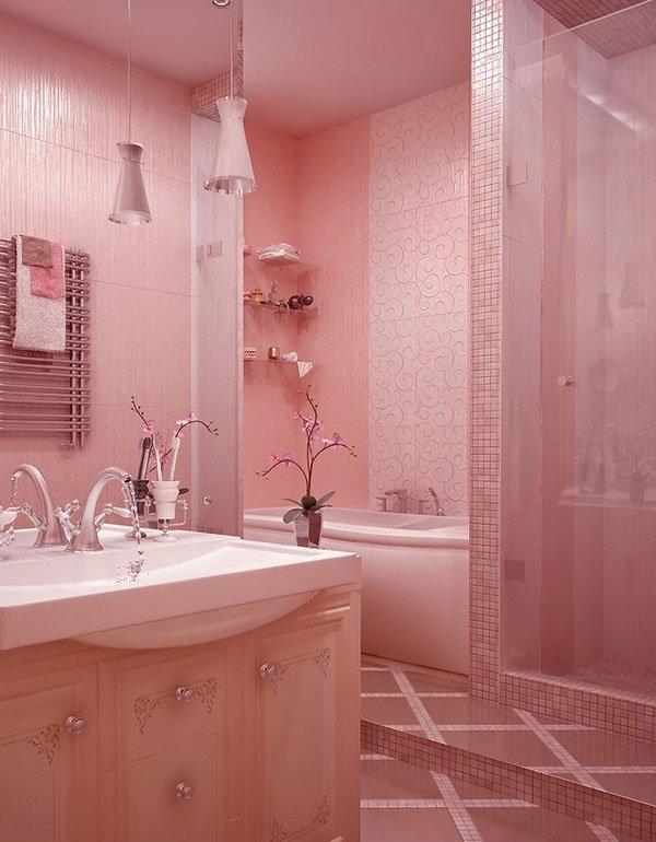 Розовый интерьер, фото