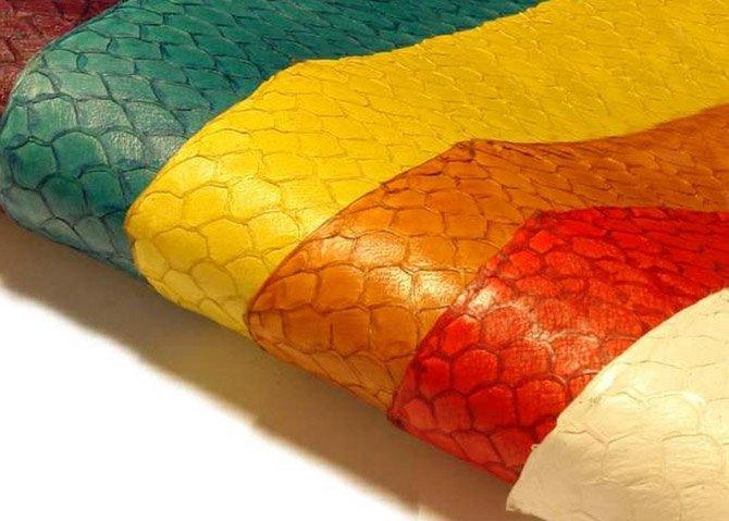 Виды и цвета натуральной кожи