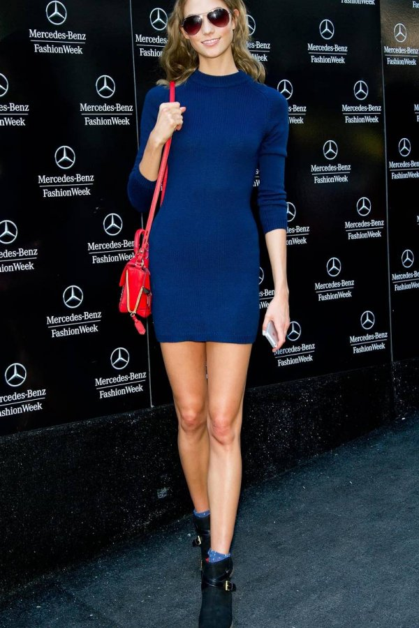 Короткое синее платье, фото