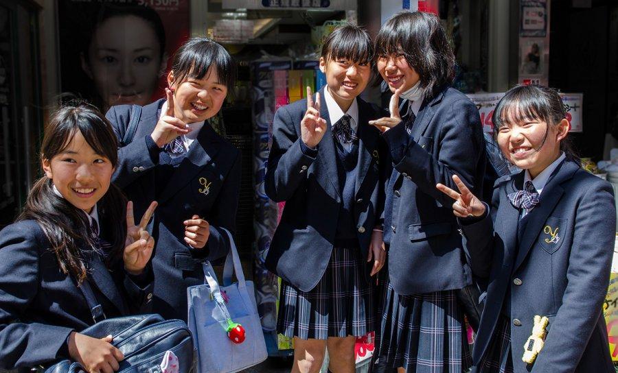 Японские школьниц – фото японских девушек