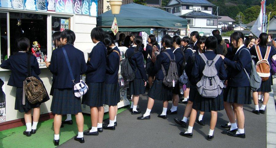 японские школьницы, фото в форме