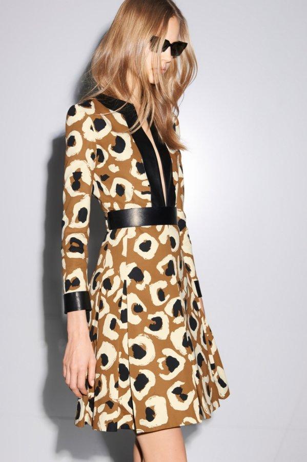 Леопардовое платье Gucci