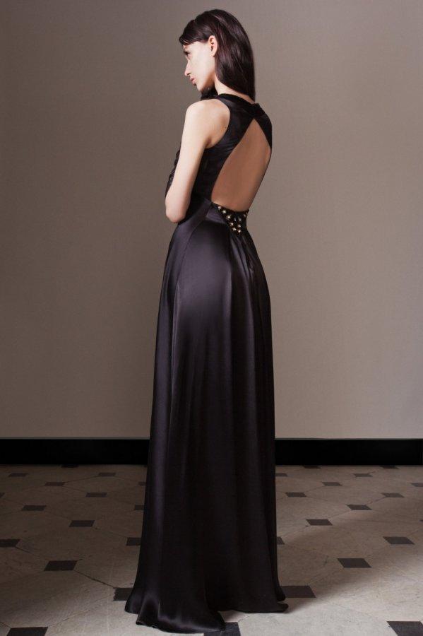 Черное платье осень-зима 2014-2015, фото