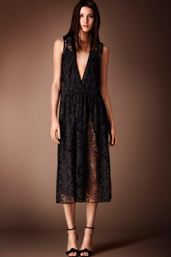 Красивое платье Burberry Prorsum 2014-2015