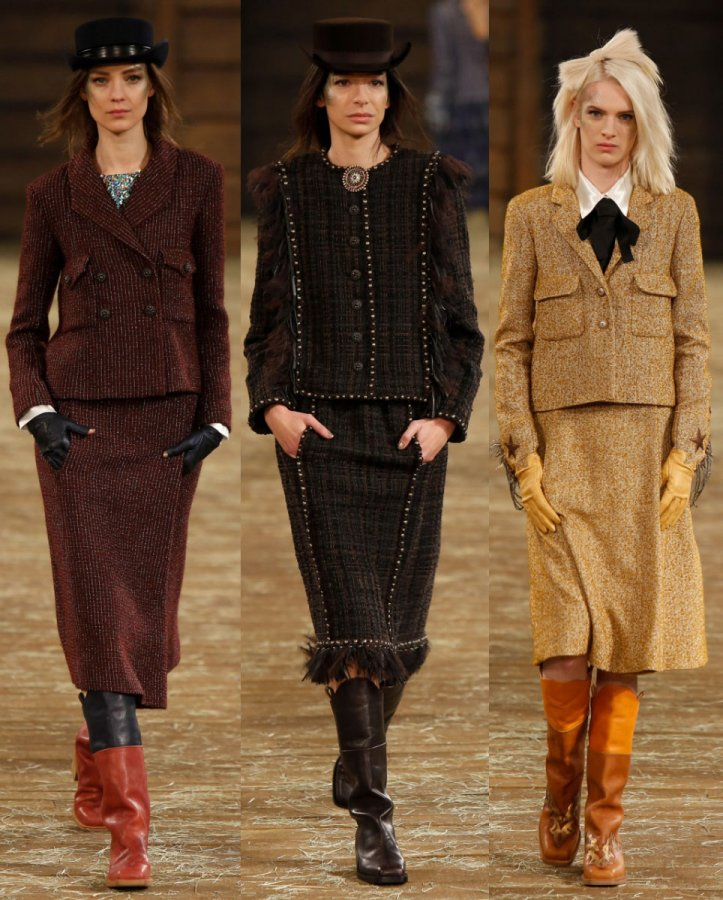 Модная одежда Chanel осень-зима 2014-2015