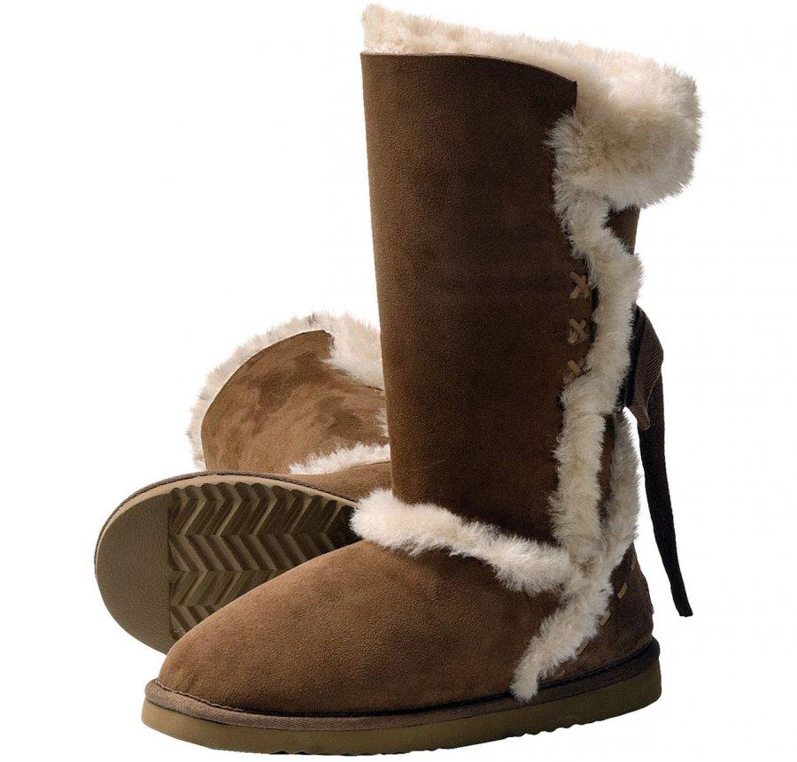 Теплая обувь из овчины, фото