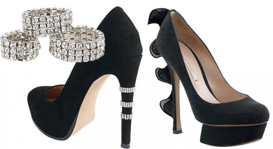 Женские туфли с красивым высоким каблуком