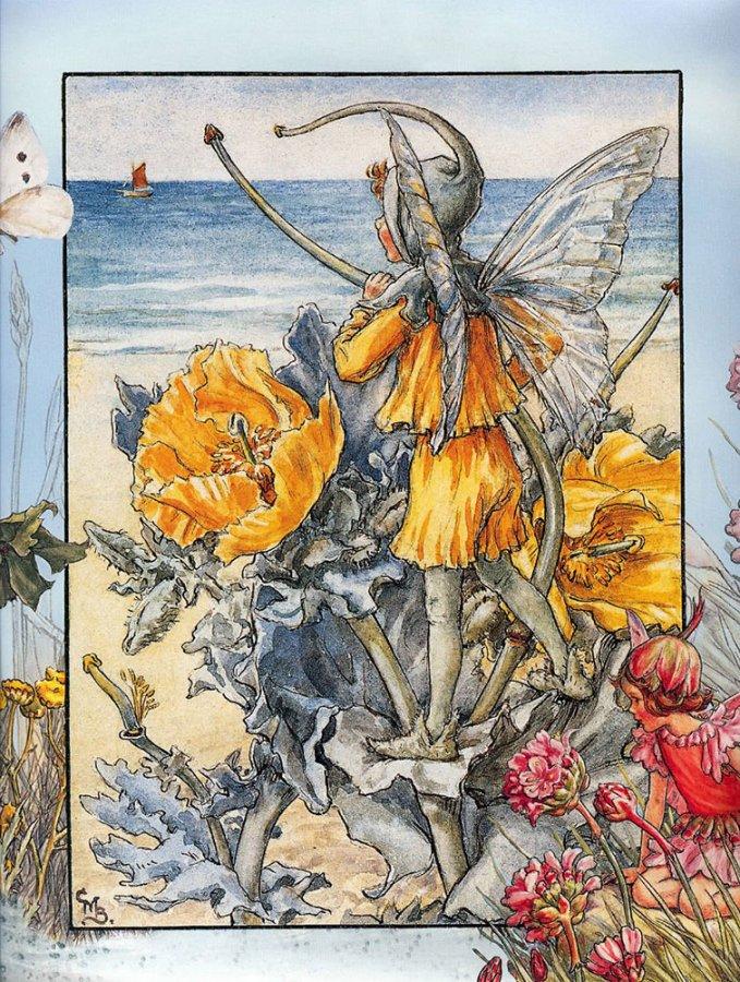 Сказочная открытка иллюстратора Сесиль Баркер