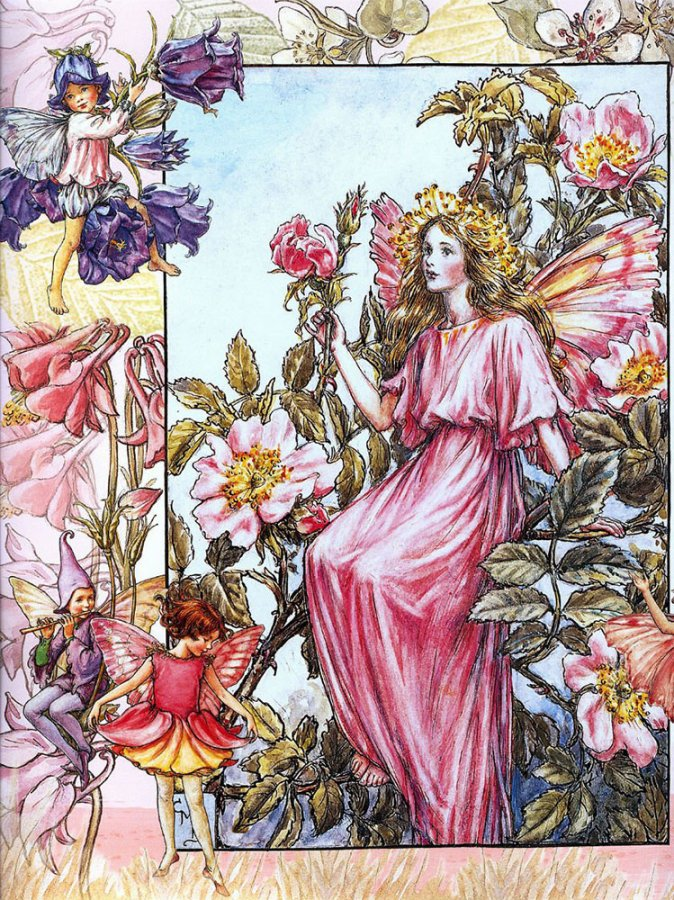 Красивая открытка Сесиль Мэри Баркер