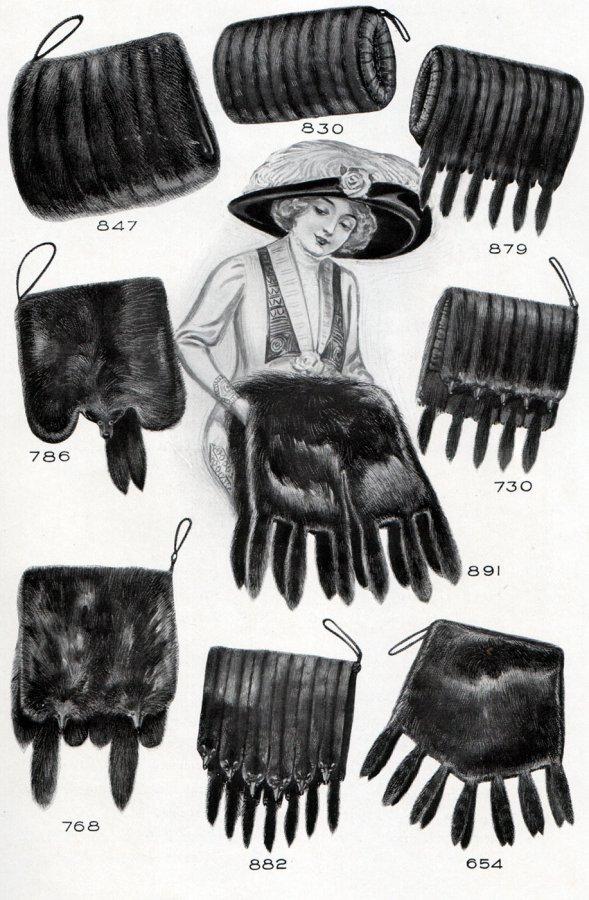 Разные фасоны меховых муфт для женщин