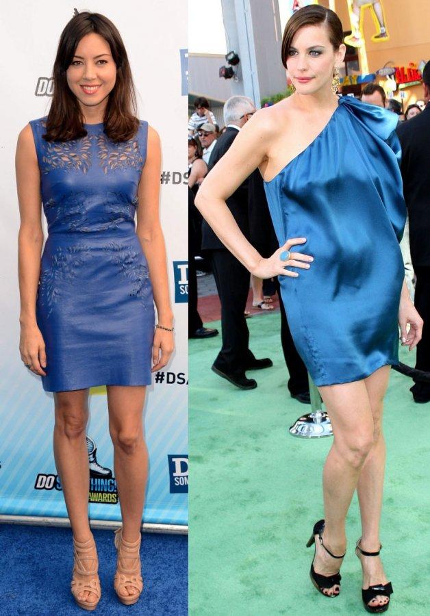 Платья синего цвета, фото