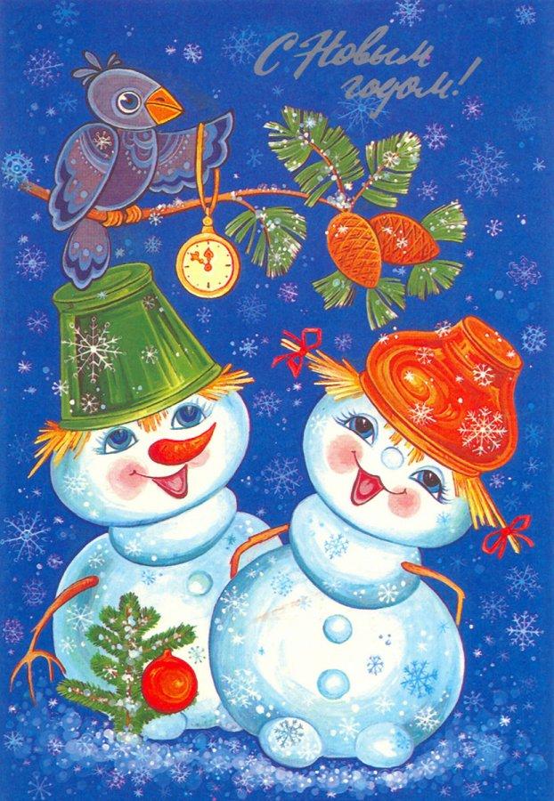 Снеговики – картинки