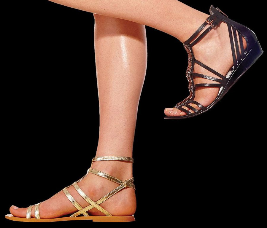 Женские сандалии гладиаторы