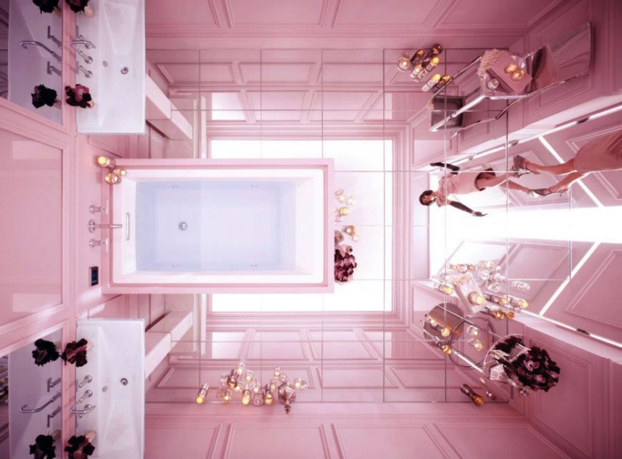 Розовый цвет в интерьерах