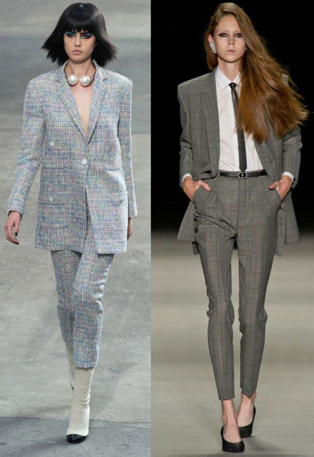 Женские костюмы Chanel и Saint Laurent