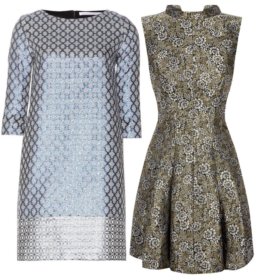 Жаккардовая ткань для платьев
