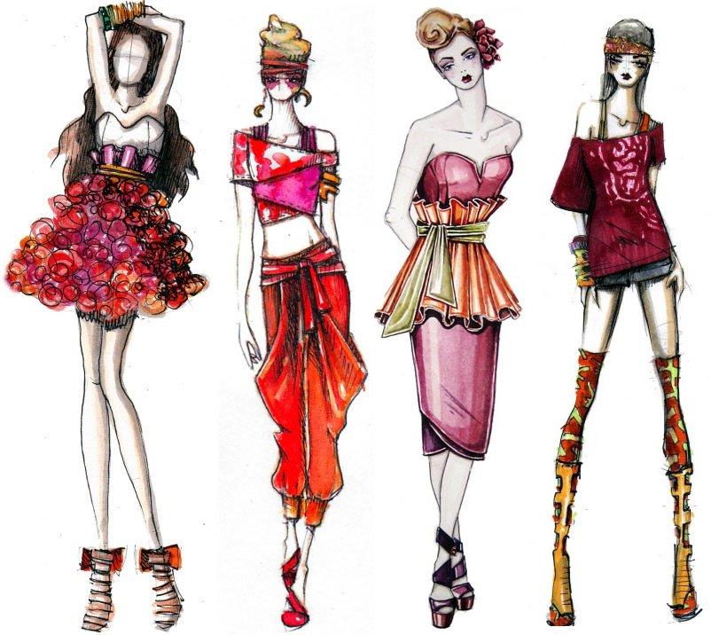 Красивые девушки модницы, картинки