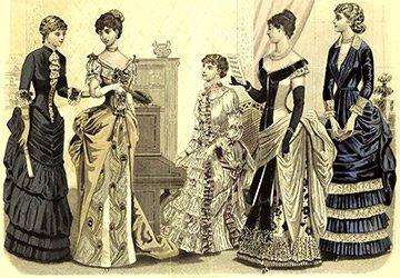 Платья второй половины XIX века