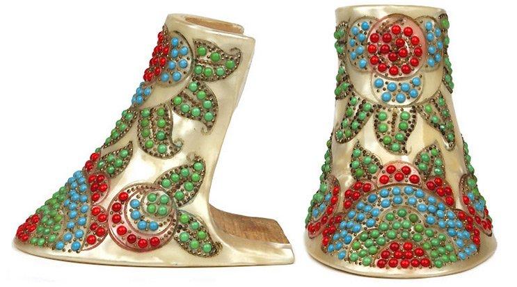 Женские каблуки с бисером, фото