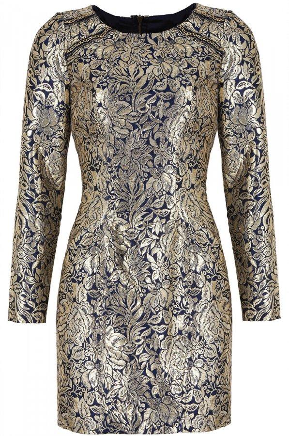 Нарядное платье из жаккардовой ткани