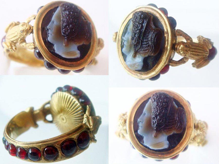 Перстень  камеей