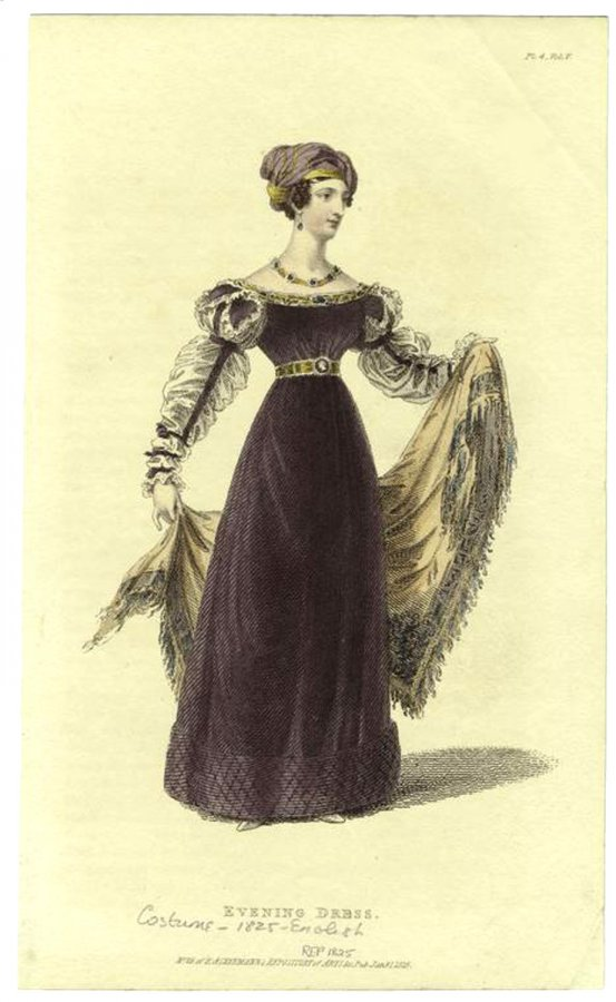 Антикварные платья в иллюстрациях