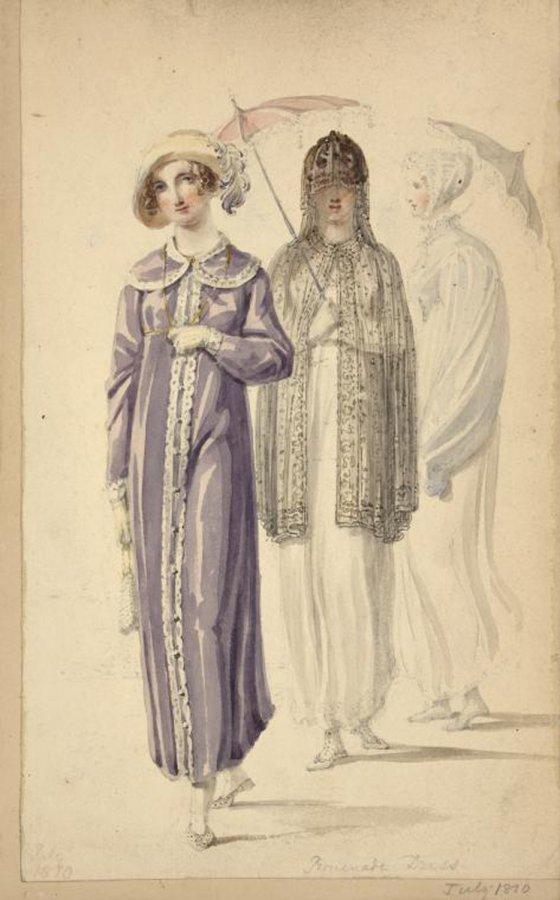 Модная иллюстрация первой половины XIX века