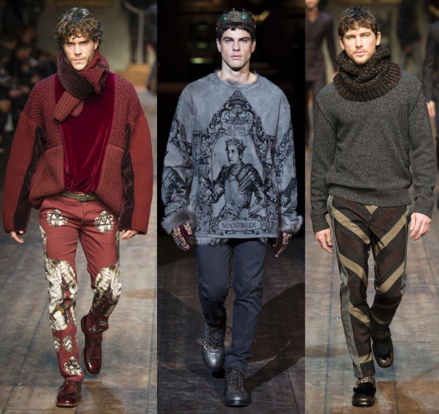 Мужская коллекция Dolce&Gabbana осень-зима 2014-2015