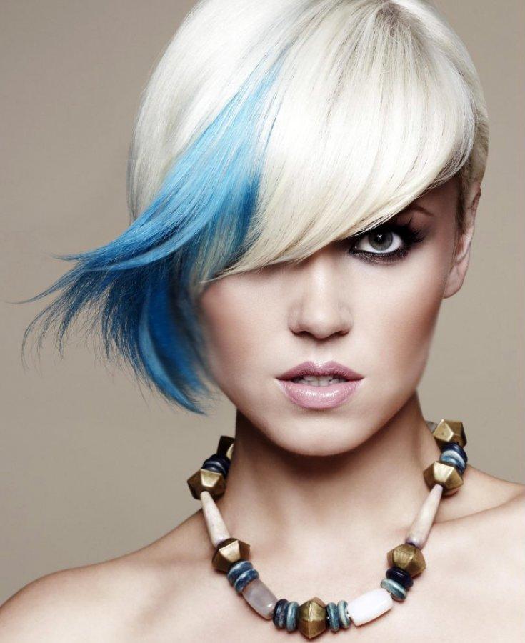 Цветные волосы, фото
