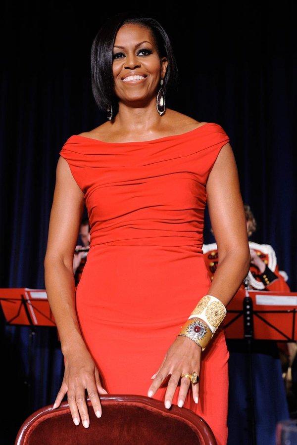 Красное платье Мишель Обамы