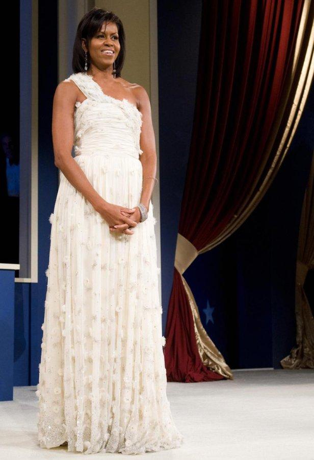Белое платье Мишель Обамы