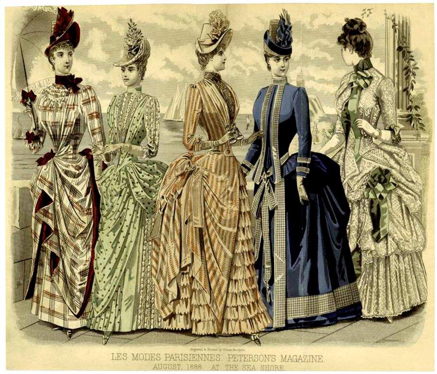Женская мода второй половины XIX века