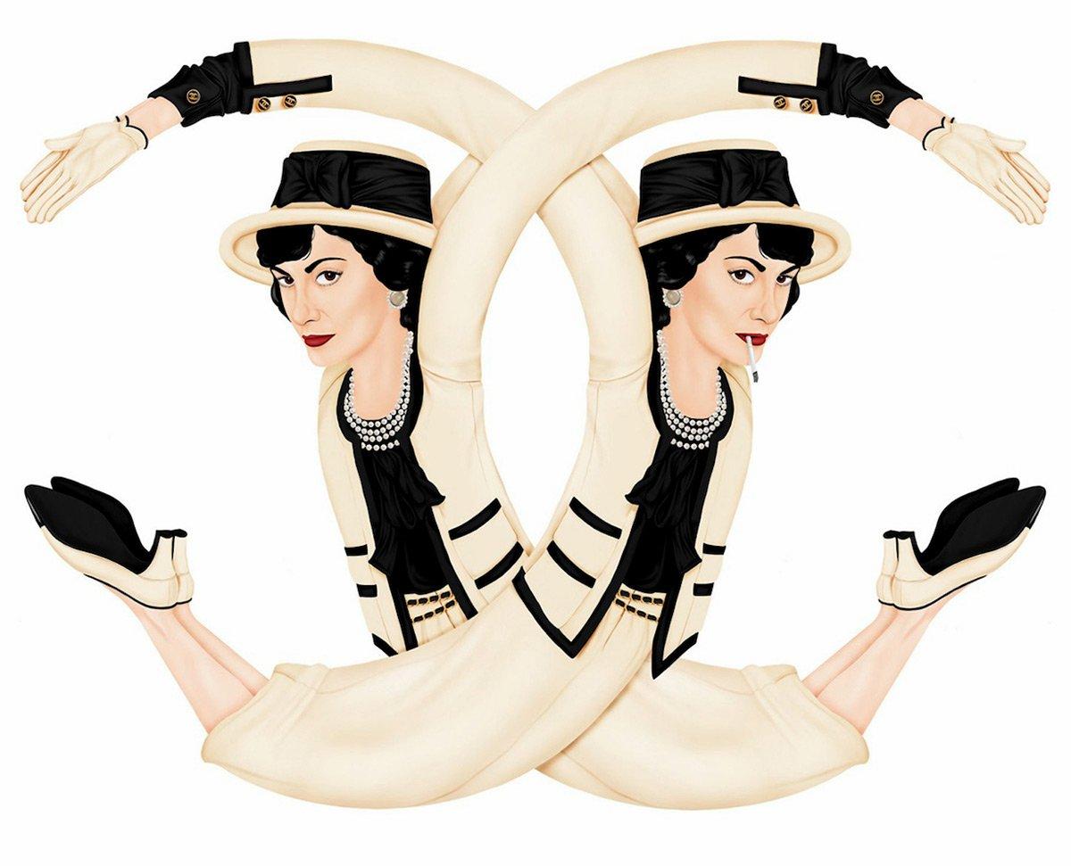Логотипы модных брендов в иллюстрации рекомендации