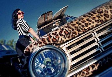 Гламурный леопардовый автомобиль