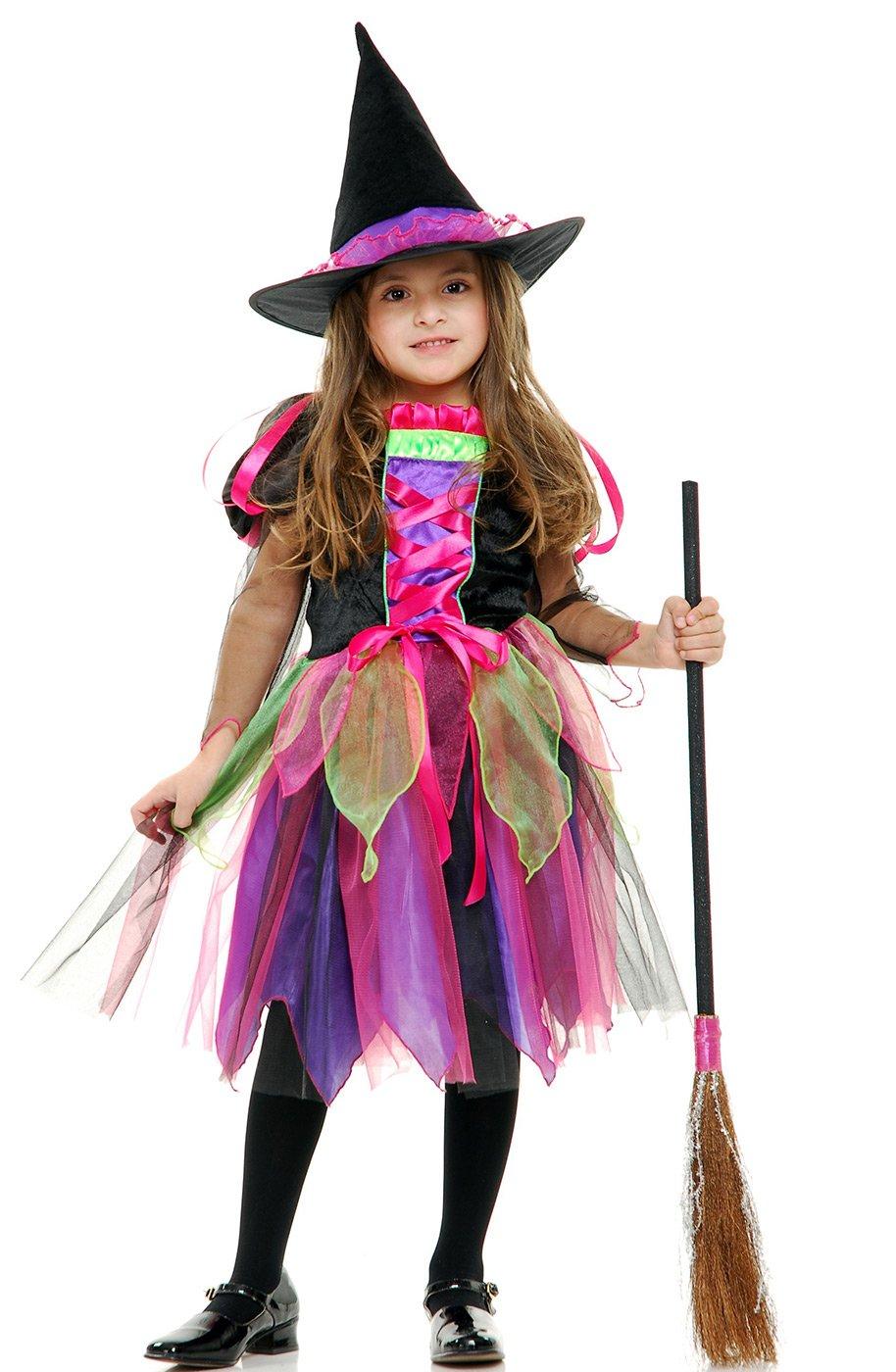 Костюм ведьмочки для девочки новый год