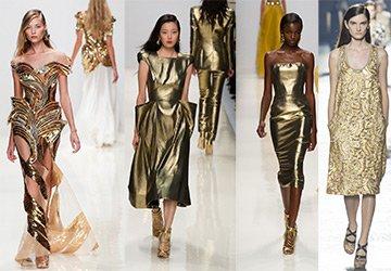 Золотые платья 2014