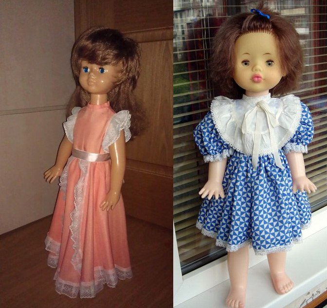 платья с голубым орнаментом