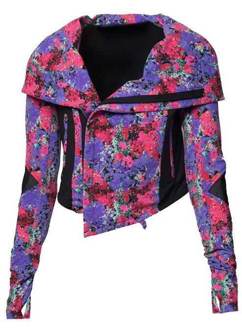 Женская куртка в байкерском стиле