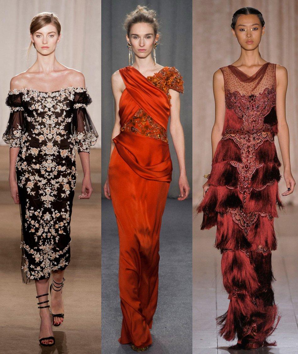 56f80234a37 Фото платьев Marchesa и история бренда