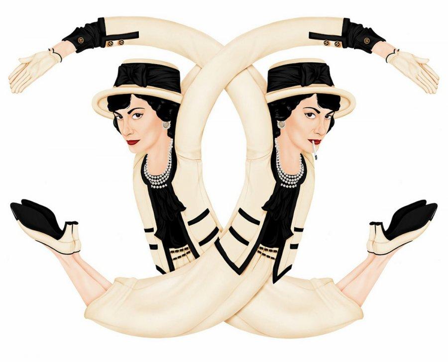 Модные иллюстрации – логотипы fashion брендов