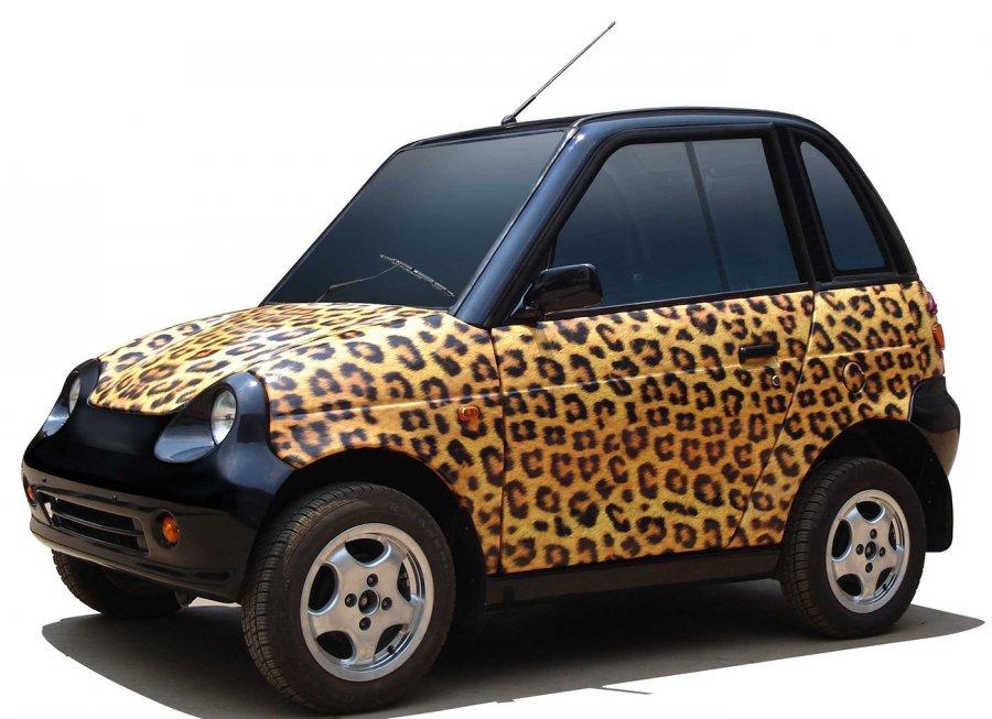 Маленький леопардовый автомобиль для девочки
