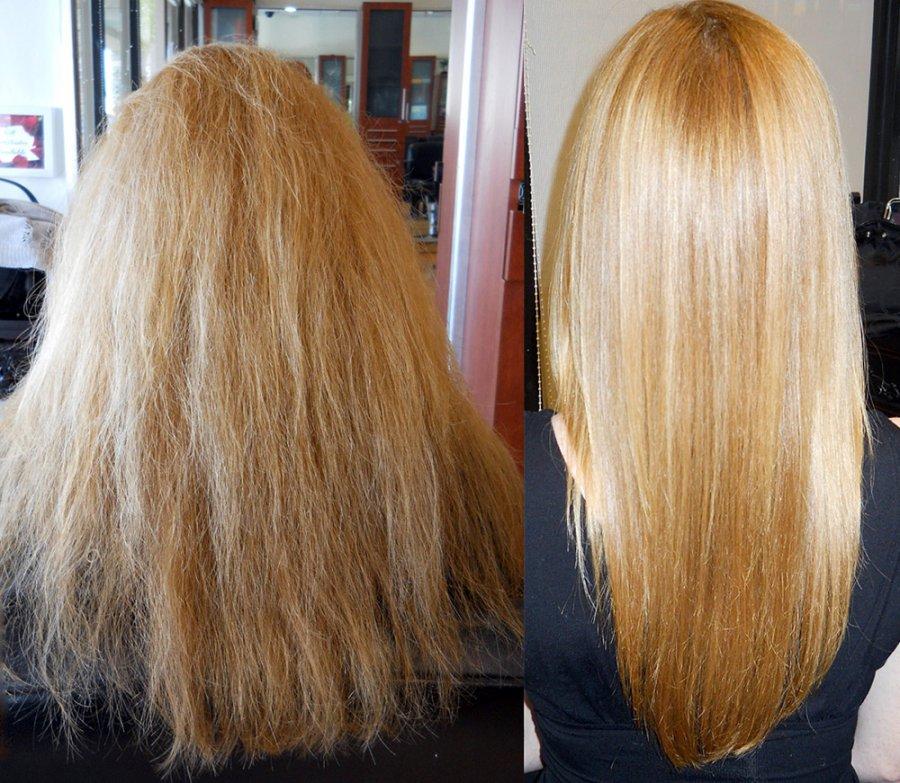 Светлые волосы и кератин